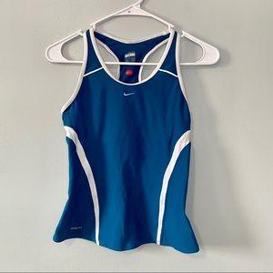 Nike Fit Blue White Running Halter Tank Top